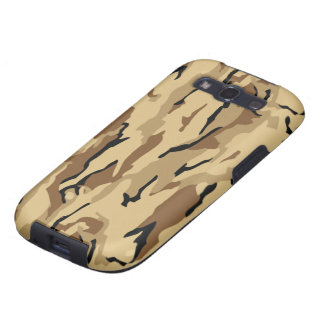 Desert Tan and Brown Military Camo Galaxy S3 Covers
