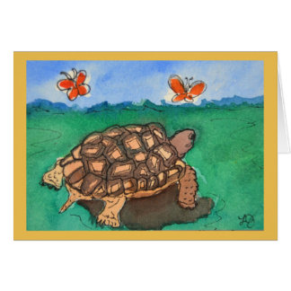 Desert Tortoise Watercolor Painting Greeting Card