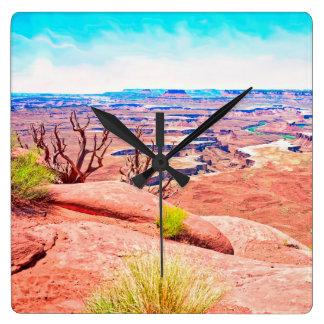 Desert View Square Wall Clock