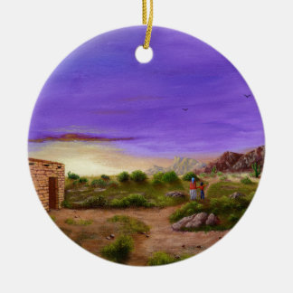 Desert Walk Ceramic Ornament