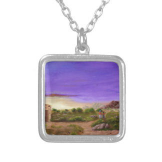 Desert Walk Silver Plated Necklace