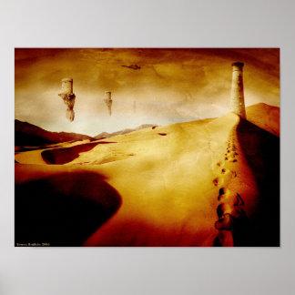 Desert Watchtower - Grunge Posters