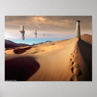 Desert Watchtower Poster