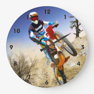 Desert Wheelie Motocross Wallclocks