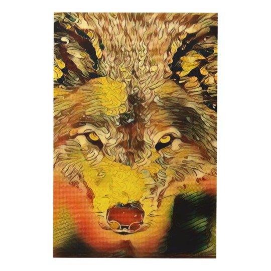 Desert Wolf Indie Airbrush Art