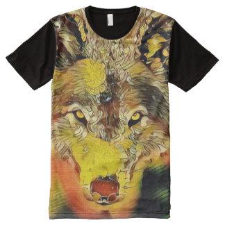 Desert Wolf Indie Airbrush Art Custom Graphic Tee