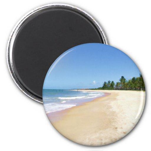Deserted Beach Magnets