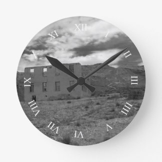 Deserted Building Photography Round Clock