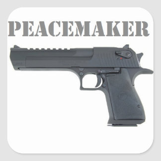 '' deserted eagle peacemaker square sticker