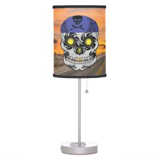 Deserted Highway Biker Candy Skull Lamp