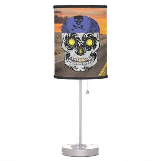 Deserted Highway Harley Biker Candy Skull Lamp