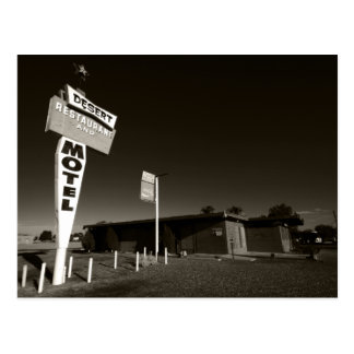 Deserted Motel Postcard