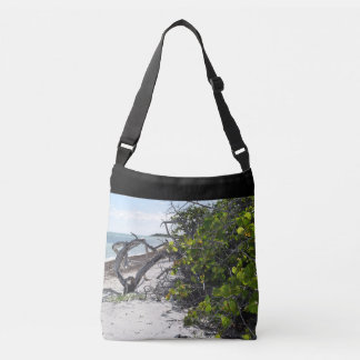 Deserted paradise summer beach shoulder tote bag