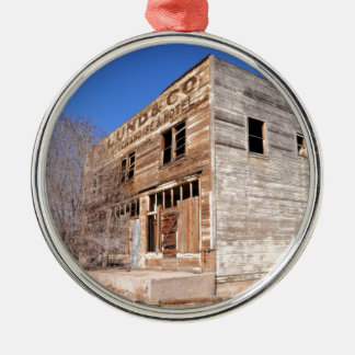 Deserted Store and Hotel  - Utah Silver-Colored Round Ornament
