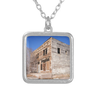Deserted Store and Hotel  - Utah Silver Plated Necklace