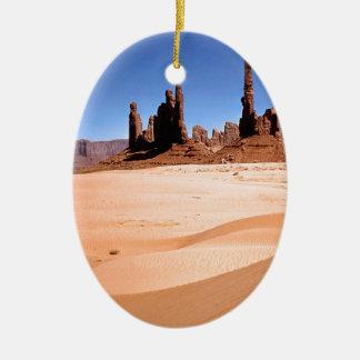 Deserts Monuments Southwest Ceramic Oval Ornament