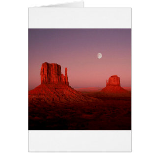 Deserts Moonrise Monument Valley Utah Card