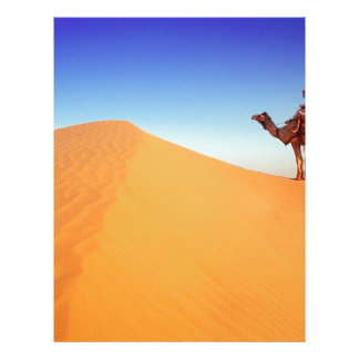 Deserts Sweltering Heat Rajasthan India Letterhead Template