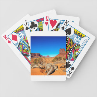 Deserts West Mitten Monument Valley Arizona Bicycle Playing Cards
