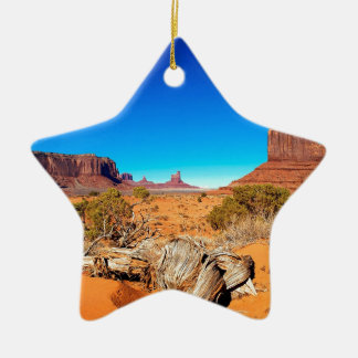 Deserts West Mitten Monument Valley Arizona Ceramic Ornament