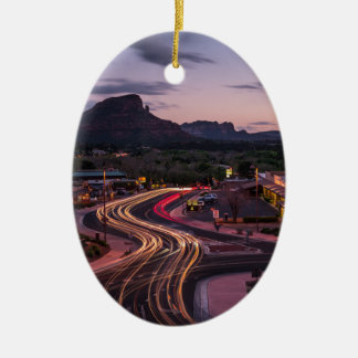 deserttrails ceramic oval ornament