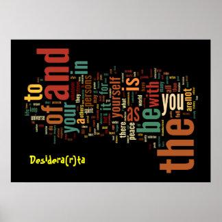 Desidera(R)ta Word Art poster print
