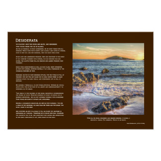 Desiderata - Burgh Island from Bantham at Sundown Poster