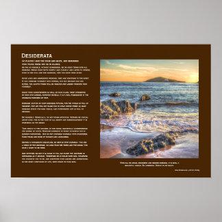 Desiderata - Burgh Island from Bantham at Sundown Poster
