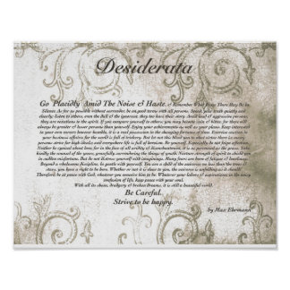 DESIDERATA Careful Vampire Watermark Design Poster