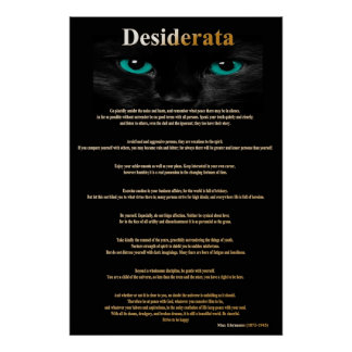 Desiderata Cat Eyes 2 Posters