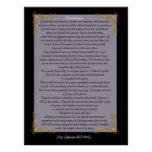 "Desiderata ""desired things"", customizable colours poster"