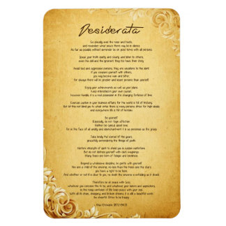 "Desiderata ""Desired Things"" on Vintage Parchment Rectangular Photo Magnet"