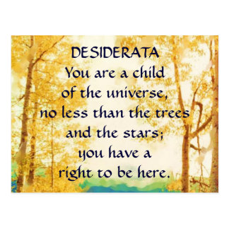 DESIDERATA Faded Aspens postcard