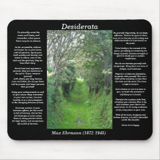 DESIDERATA Grass Road Mousepad