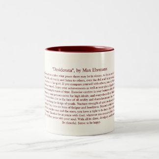 Desiderata - Inspirational Poem for Graduates Two-Tone Mug