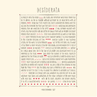 Desiderata Inspirational Poem Photo Sculpture Magnet