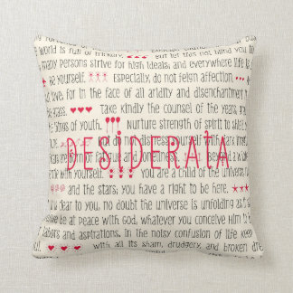 Desiderata Inspirational Poem Throw Pillow