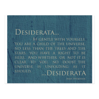 Desiderata On Canvas Postcard