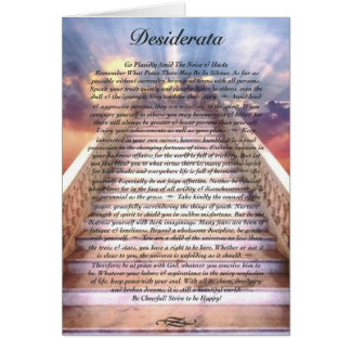 DESIDERATA Poem Card on Stairway To Heaven