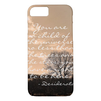 Desiderata poem inspirational saying quote nature iPhone 8/7 case