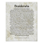 DESIDERATA Poem  Max Ehrmann-Medieval Calligraphy Poster