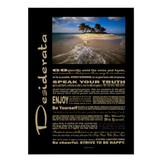 Desiderata Poem Small Solitary Island Poster