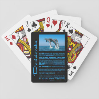 Desiderata Poem Up Up Up Dolphins Playing Cards