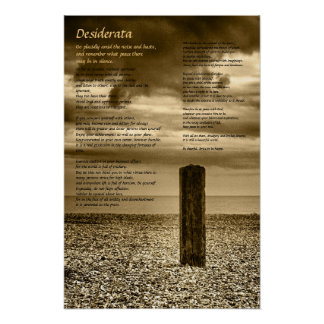 Desiderata poster - I Have Time