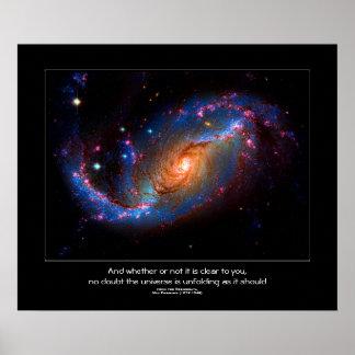 Desiderata quote - Barred Spiral Galaxy NGC 1672 Print