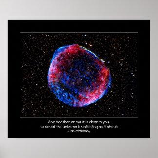 Desiderata quote - Brightest Supernova Ever Poster