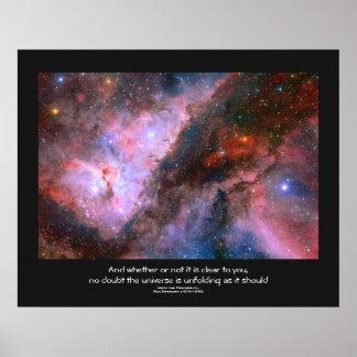 Desiderata quote - Carina Nebula Eta Carinae Print