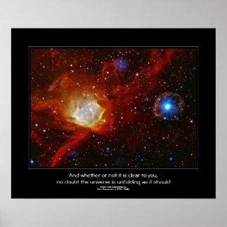 Desiderata quote - Celestial Bauble Print