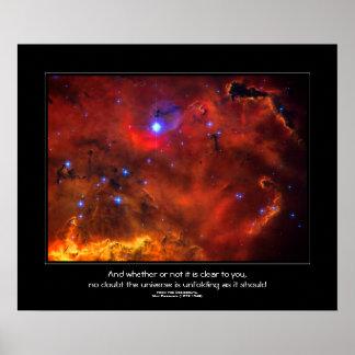 Desiderata quote - Constellation Puppis Nebula Print