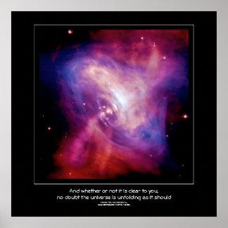 Desiderata quote - Crab Pulsar Neutron Star Poster
